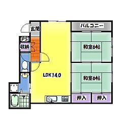 クレアシオンSII[1階]の間取り