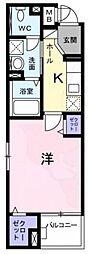 Osaka Metro千日前線 日本橋駅 徒歩10分の賃貸マンション 3階1Kの間取り