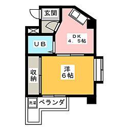 秀美寮[4階]の間取り