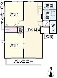 ハイムサツキ[2階]の間取り