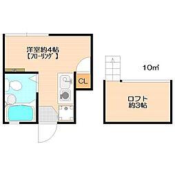 ピュアハウス弐番館[2階]の間取り