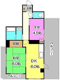 東京都練馬区谷原1丁目の賃貸マンションの間取り