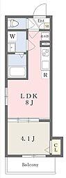 近鉄南大阪線 高見ノ里駅 徒歩4分の賃貸アパート 3階1LDKの間取り