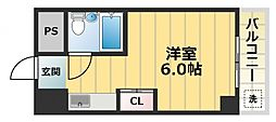 エクセルシオール長田[7階]の間取り