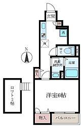東京都江東区森下4丁目の賃貸アパートの間取り