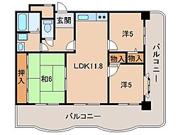 パレ・ロワイヤル吹屋401号[4階]の間取り