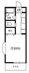 東京都町田市玉川学園7の賃貸アパートの間取り