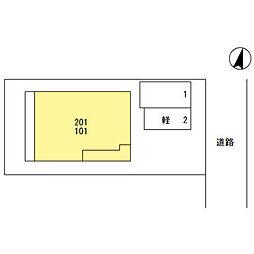 (仮)D‐room桜区南元宿2丁目 II[201号室]の外観