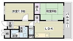 アーバン北田[801号室]の間取り
