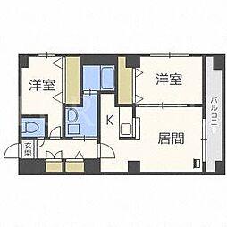 北海道札幌市白石区平和通2丁目北の賃貸マンションの間取り