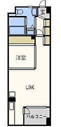パークフラッツ六本松[4階]の間取り