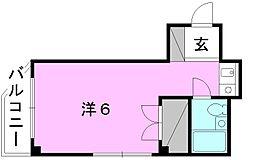 第一高岡ビル[401 号室号室]の間取り