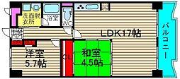 コープ野村梅田A棟[302号室]の間取り