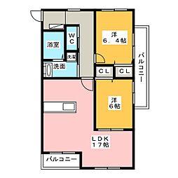 Excel Court Kuwana II[1階]の間取り