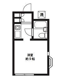 アップルハウス三ツ沢B[106号室]の間取り