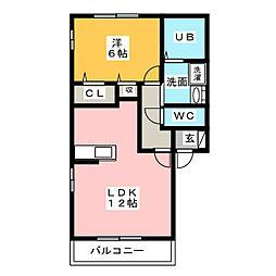 ロンドリーナ[2階]の間取り
