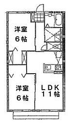 ノアージュ1[1階]の間取り