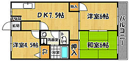 ドミールオークラ[3階]の間取り