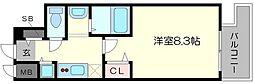 ララプレイス大阪 WestPrime[10階]の間取り