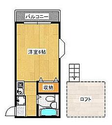 東京都杉並区桃井4丁目の賃貸アパートの間取り