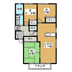 MGパレス A棟[2階]の間取り