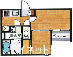 福岡市地下鉄空港線 博多駅 徒歩12分の賃貸アパート 1階2Kの間取り