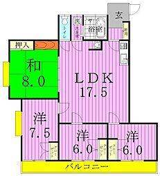 第4ニューハイツ[2階]の間取り