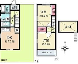 [テラスハウス] 神奈川県横浜市港北区新吉田東5丁目 の賃貸【/】の間取り