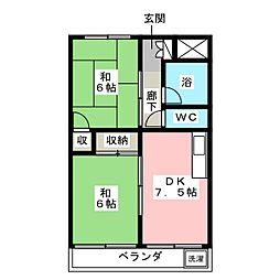 エビラヤビル[4階]の間取り