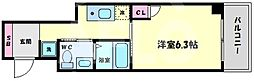 TOYOTOMI STAY Premium梅田II 4階1Kの間取り