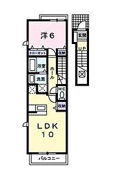 ジェルメ[2階]の間取り
