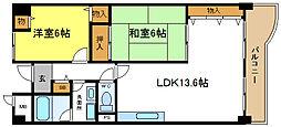 パークシャトー平野白鷺[1階]の間取り