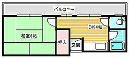 岩本マンション[401号室]の間取り