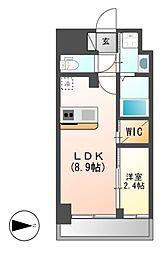 仮)ハーモニーレジデンス名古屋新栄[10階]の間取り