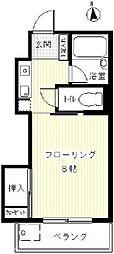 アパートメント・サンコー 2階1Kの間取り