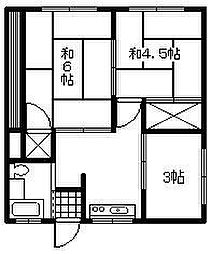 阿部アパート[102号室]の間取り