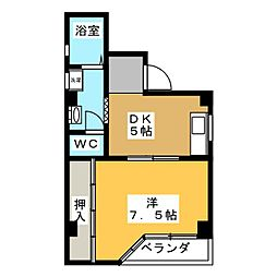 メゾンなごの808[4階]の間取り