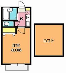 パシフィックパレス北本[1階]の間取り