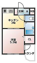 アルファポレール[3階]の間取り