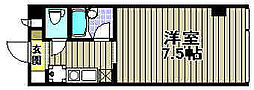 サンライズ日宝[206号室]の間取り