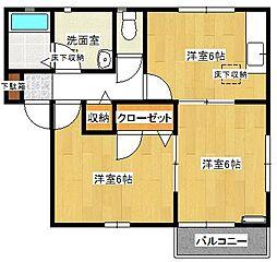 NIFTY2 A棟[1階]の間取り