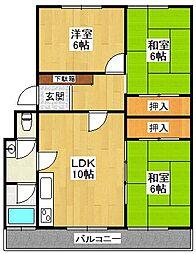 仁川フラットC棟[2階]の間取り