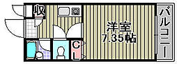クレアーレ[203号室]の間取り