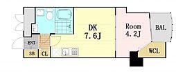 セレニテ梅田EST[9階]の間取り