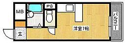 ふぁみーゆ永代町[5階]の間取り