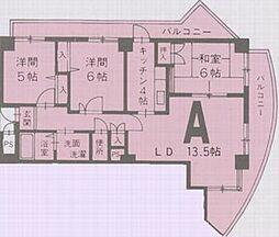 パレ・ロワイヤル壱番館[3階]の間取り