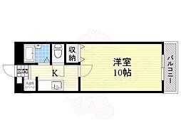 Osaka Metro谷町線 大日駅 徒歩16分の賃貸マンション 2階1Kの間取り
