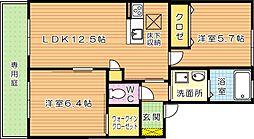 サンベレオ B棟[1階]の間取り