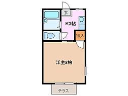 三重県四日市市曙2丁目の賃貸アパートの間取り