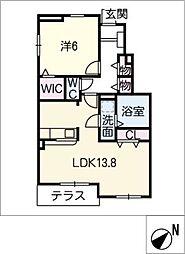 レジデンス・サンリット A棟[1階]の間取り